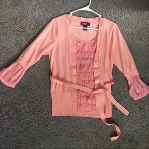 Half sleeve pink blouse